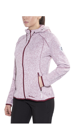 High Colorado Rax Strickfleece Hoodie Damen rot melange